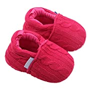 Usstore 1Pair Kid Infant Baby Toddler Newborn Anti-slip Soft Sole Shoes (0~6 Month, Hot Pink)