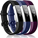 CreateGreat Compatible with Fitbit Alta HR and Alta Bands,Replacement Sport Accessory Band Wristbands with Metal Buckle Small or Large