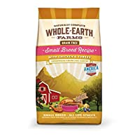 Whole Earth Farms Grain Free Small Breed Chicken & Turkey Recipe Dry Dog Food, 4 LB