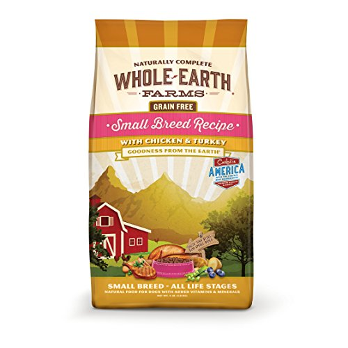 Cheap Merrick Whole Earth Farms Grain Free Small Breed Recipe with Chicken & Turkey Dry Dog Food, 12 lbs
