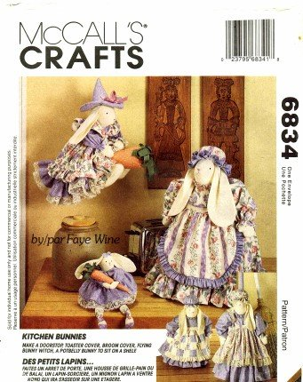 - McCall's 6834 Crafts Sewing Pattern Kitchen Bunnies Door Stop Toaster Broom Cover