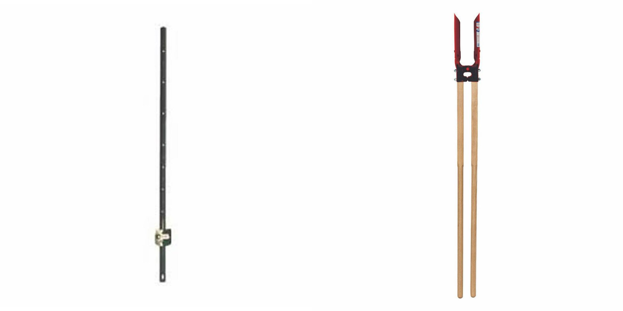 Set of 10 Mazel Light Duty U-Posts + Seymour Atlas Hole Digger - Choose Lenght (4') by Mazel-Seymour