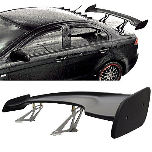 Universal 57 Inch ABS Black GT Wing Span JDM Trunk Spoiler Wing By IKON MOTORSPORTS