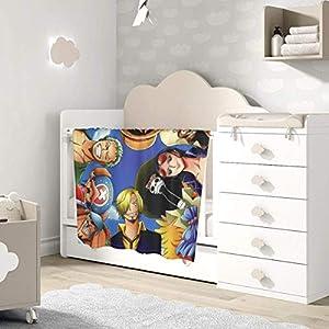 AOOEDM Baby Blanket Anime One Piece Toddler Kids Blanket Super Soft Baby Blankets Cozy Crib Lightweight Comforter…