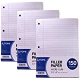Tops 62325 10.5'' X 8'' Wide Ruled Filler Paper 150 Count
