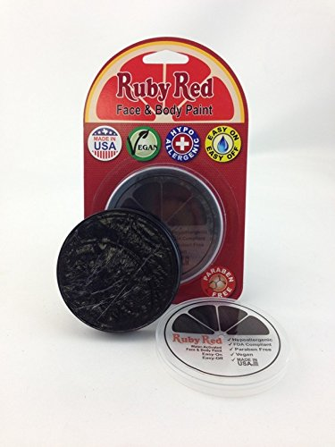 Ruby Red Face Paint .61oz-Black