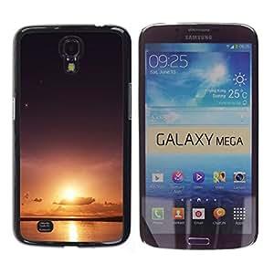 Sun & Sea - Metal de aluminio y de plástico duro Caja del teléfono - Negro - Samsung Galaxy Mega 6.3