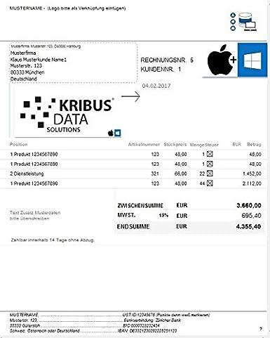 Rechnungssoftware Windows Mac Rechnungsprogramme Rechnungen