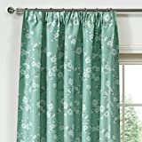 Cheap LQF Window Treatments Decor Energy Efficient Floral Printed Taupe Country Thermal Insulated Blackout Curtains Drapes for Bedroom, Hook Process, Multi-size , 1 Panel , W40 by L96 inch
