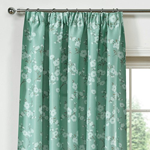LQF Window Treatments Decor Energy Efficient Floral Printed Taupe Country Thermal Insulated Blackout Curtains Drapes for Bedroom, Hook Process, Multi-size , 1 Panel , W40 by L96 inch