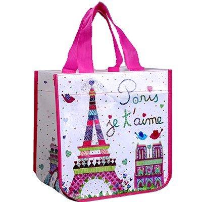 FoxTrot 9331AIME kleine Tasche/Shopper Paris, Je t Aime, Vlies, 30 x 18 x 30 cm