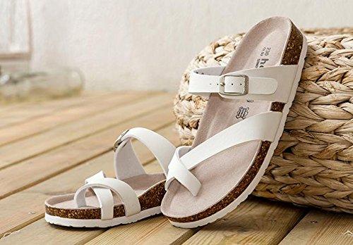 pengweiPantofole in sughero Pantofole fresche della signora bianca della signora pattini freddi Pantofole della spiaggia