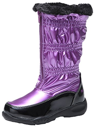 Boot Boot Snow Cozy Snow Zip Flat Inventory Fashion Boot Waterproof High New Cotton Girls Purple Sneaker Pointss Tall Winter qFStBZx