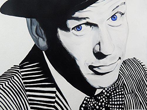 Frank Sinatra Blue Eyes by Ed Capeau 16x12 Canvas Gallery Wr