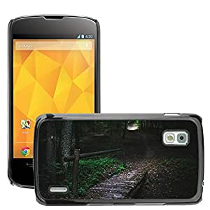 Hot Style Cell Phone PC Hard Case Cover // M00306895 Bridge Wood Forest Woods Tree Trees // LG Nexus 4 E960