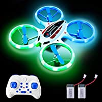 Rainbrace Mini Drones for Kids Beginners, Quadcopter RC Drone with LED Lights and Altitude Hold, Outdoor RC Helicopter Remote Control Flying Toys for Boys Age 8-14 Years Old