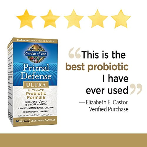 Garden Of Life Whole Food Probiotic Supplement Primal Defense Ultra Ultimate Probiotic Dietary