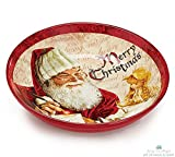 "Christmas Holiday Large Ceramic Serving Bowl ""Santa's List"""