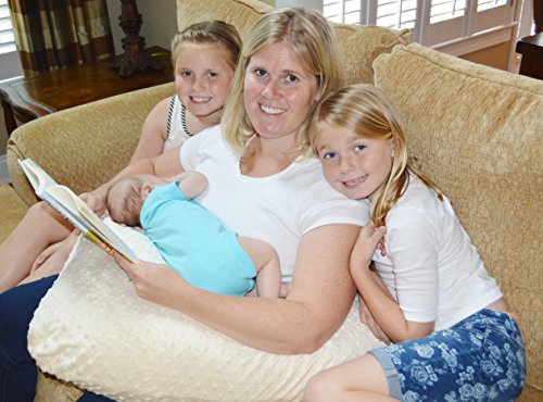 The 4 in 1 One Z CREAM Nursing Pillow w/ AMAZING BACK SUPPORT- CREAM COLOR COVER by Twin Z PIllow (Image #3)