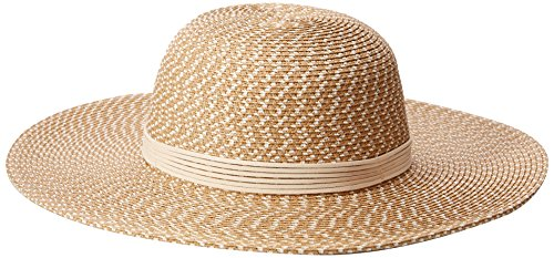 Natural Straw Sombrero (Collection XIIX Women's Shine and Tweed Straw Floppy Hat, Natural, One Size)