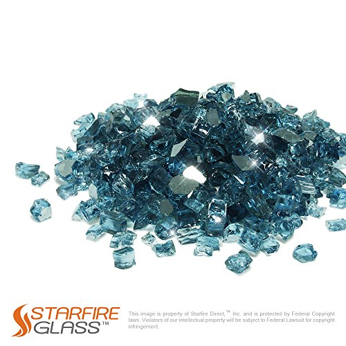 (Starfire Glass 10-Pound  (Fire Glass) 1/2-Inch Pacific Blue (Reflective-Supreme))