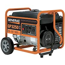 Generac 5982 GP3250 3,750 Watt 206cc OHV Portable Gas Powered Generator