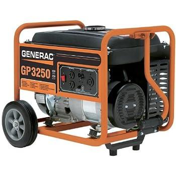 Generac 5982 GP3250 3250 Running Watts/3750 Starting Watts Gas Powered Portable Generator - CSA Compliant
