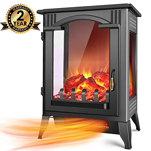 Infrared Fireplace Heater - 1500W / 750W Infrared Electric Fireplace Heater with 3D Flame Effect