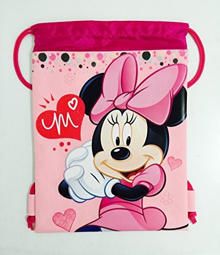 Disney Minnie Mouse Drawstring Backpack - Pink Drawstring Bag