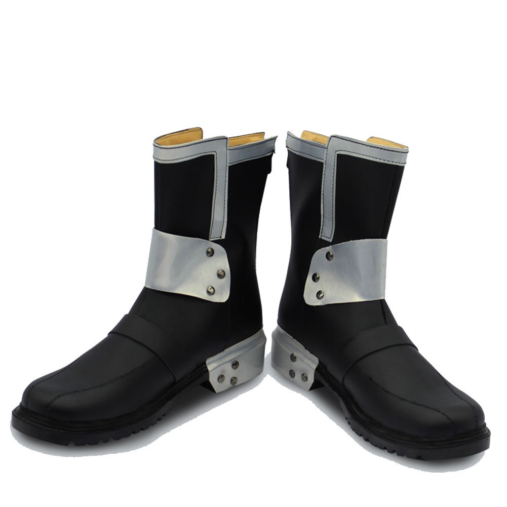 SAO Kirito Boots Black PU-leather Sword Art Cosplay Shoes Boots 42