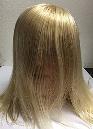 Professional Hair Manikin Real Size Head 100% real Blond Hair +-18