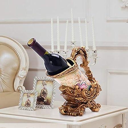 DC Wesley Estantería Estante Europeo del Vino Retro Decoración Casera Creativa Botella De Vino Estante Decoraciones De La Sala De Estar