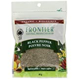 Frontier Natural Products Coop Bulk Pepper, Black Medium Grind Pouch, French/English, 44-Gram