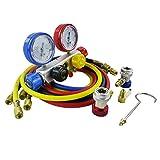 Wisepick AC Manifold Gauge Set R12 R22 R134A R410A 4 Ways HVAC Diagnostic Tool Kit