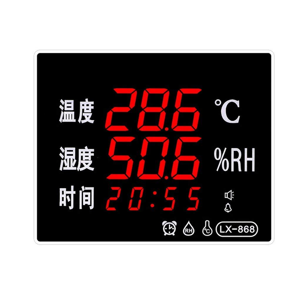 RTYUU Household with Clock Thermometer Humidity Counting Calendar Industrial Grade LED Display