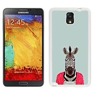 NEW Unique Custom Designed Samsung Galaxy Note 3 N900A N900V N900P N900T Phone Case With Zebra Funny Animal Portrait_White Phone Case