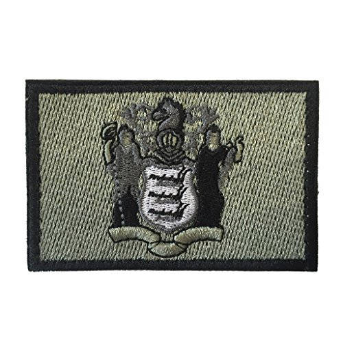 SpaceAuto State of New Jersey Flag Tactical Morale Patch Lig