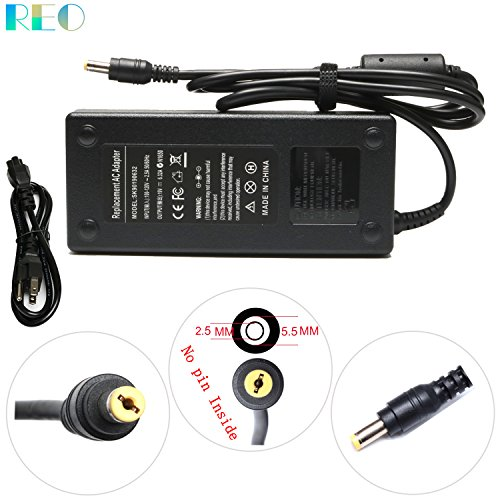 Reo 19V 6.32A 120W AC Adapter Charger For Asus Q550LF N550JV F554LA GL551JM GL551JW GL771JM R500VJ R510CA R700VJ X750JB N550JX N750 X550JK G50 G51J G60 N53 ;ADP-120ZB BB PA-1121-28 Power Supply Cord