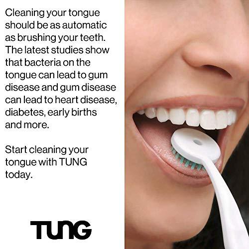 Peak Essentials   The Original TUNG Brush   Tongue Cleaner   Odor Eliminator   Fight Bad Breath   Fresh Mint   BPA Free   Made in America   (2 Count w/Cap)