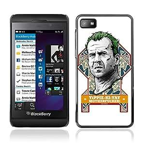 CASETOPIA / Bruce Will Funny / Blackberry Z10 / Prima Delgada SLIM Casa Carcasa Funda Case Bandera Cover Armor Shell PC / Aliminium