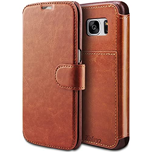 Taken S7 edge Wallet Case - Galaxy S7 edge Case Pu Leather - Card Slot - Ultra Slim for Samsung Galaxy S7 Edge Sales