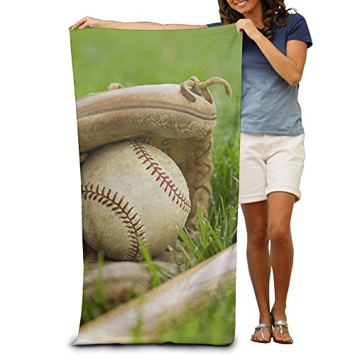 Baseball On Green Grass Beach Bath Pool Hooded Extra Large Towels Blanket For Adult