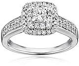 14K White Gold Princess Cut Diamond Engagement Ring (1cttw), Size 6