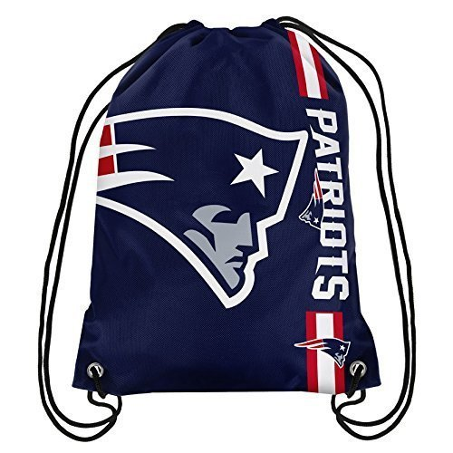NFL New England Patriots Big Logo Drawstring Backpack, 18 In. X 13.5 In.
