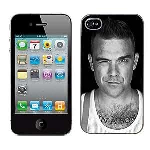 Coque rigide pour Apple iPhone 4/4S Photo de Robbie Williams