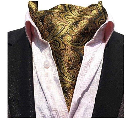 L04BABY Men's Classic Paisley Floral Silk Cravat Ties Jacquard Woven Ascot