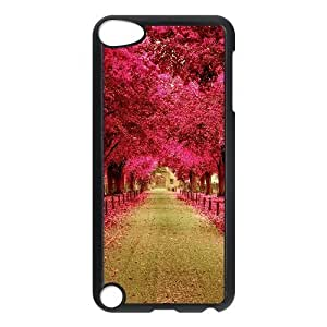 Ipod Touch 5 Cases Pink Trees Walkway, Ipod Touch 5 Cases Pink Flower, [Black]
