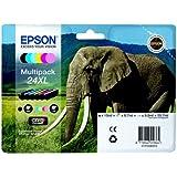Epson 24XL Serie Elefante Cartuccia Originale, Multipack, XL, 6 Colori, FFP
