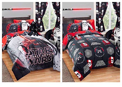 Star Wars Kylo Ren Reversible Kids Twin / Full Size Bed Comforter - 72