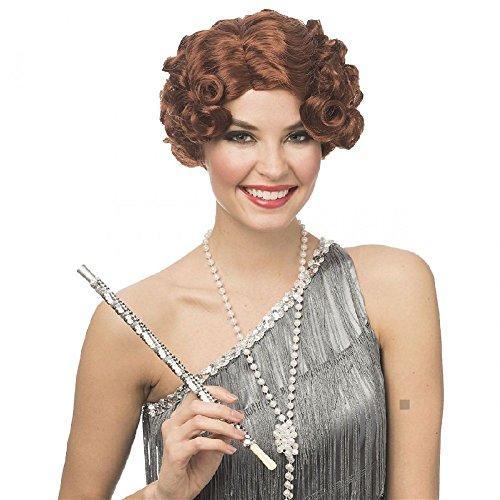 Flapper Girl Costume Wig Adult Roaring 20s Halloween Fancy Dress - Flapper Girl Adult Wig